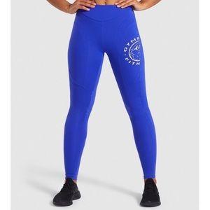 Gymshark Legacy Fitness Leggings Cobalt/White XS
